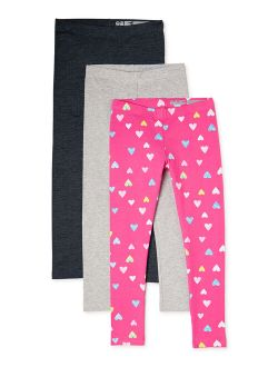 Girls Kid Tough Printed And Solid Leggings, 3-pack, Sizes 4-18 & Plus