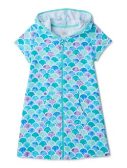 Girls Hooded Terry Cloth Cover-up, 4-16 & Girls Plus