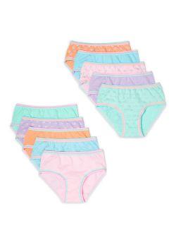 Girls Hipster Underwear 10-pack, Sizes 4-16