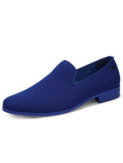 uubaris Mens Loafers Dress Shoes Slip On Shoes Classic Tuxedo Knit Walking Shoes