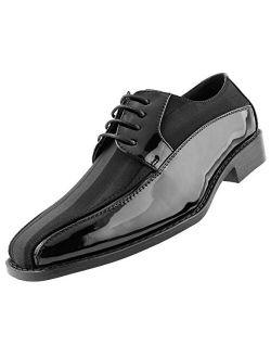 Amali et.al Avant, Mens Shoes - Dress Shoes for Men - Oxford Shoes for Men - Formal Shoes for Men - Tuxedo Shoes for Men, Satin Lace Up, Mens Dress Shoes