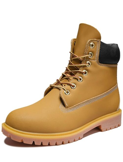 Shein Men Lace-up Front Combat Steel Toe Work Boots