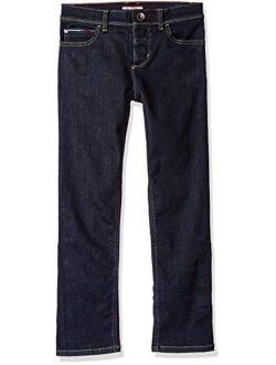 Boys' Adaptive Jeans Slim Straight Fit With Adjustable Waist And Hems