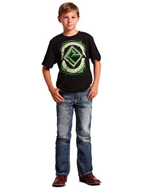 Rock & Roll Denim - Boy's Regular Fit BB Gun Bootcut Western Jeans - Medium Vintage Wash