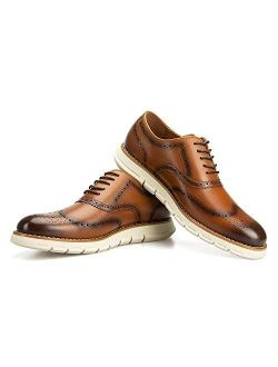 JITAI Mens Oxford Shoes Casual Dress Shoes for Men Lightweight Lace Up Fashion Shoes