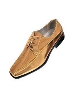 Viotti 179 - Mens Shoes - Oxford Shoes for Men - Mens Casual Dress Shoes, Wedding Shoes Striped Satin, Patent Tuxedo - Dress Shoes for Men; Color: