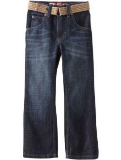Boys' Dungarees Belted Slim Straight Leg Jean
