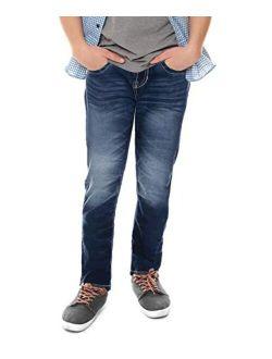 CULTURA Skinny Jeans for Boys, Toddler, Little Boy, Kids, Big Boys, Teens Distressed Denim Pants Size 2T-20