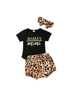 Newborn Baby Girl Cotton Ruffled Short Sleeve Bodysuit Tops + Floral Shorts Baby Girl Clothes Set