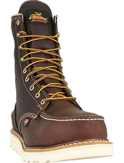 "Thorogood Men's 8"" Moc Toe 1957 Series, MAXwear Wedge Waterproof Safety Toe"