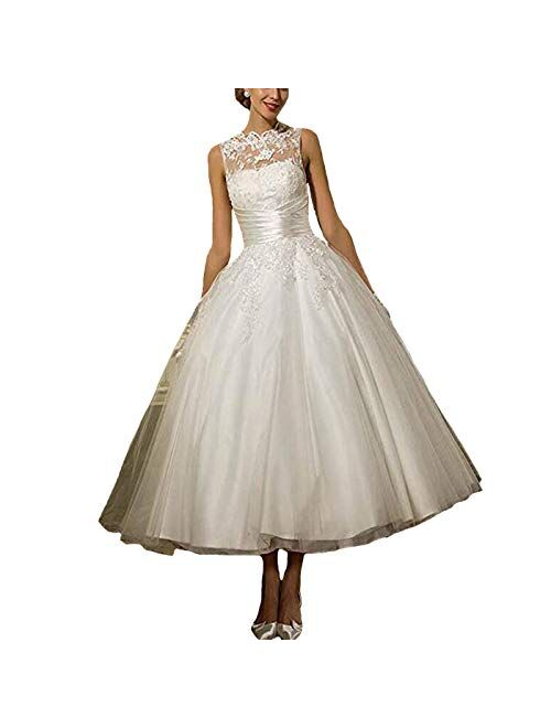 Fair Lady Lace Ball Gown Wedding Dresses 1950s Princess Formal Wedding Party Bridal Gowns