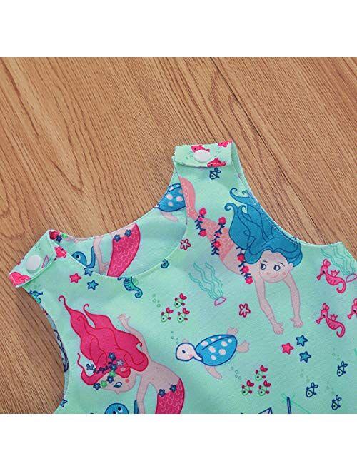 Multitrust Newborn Baby Boys Girls Cotton Cartoon Sleeveless Romper Jumpsuit One Piece Playsuit Baby Clothes