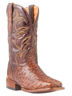 El Dorado Men's Handmade Full Quill Ostrich Stockman Boot Square Toe - Ed2213
