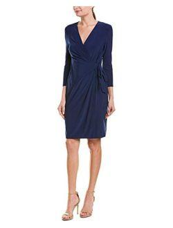 Women's Classic V-neck Faux Wrap Dress