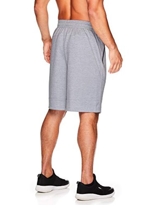 AND1 Men's Basketball Gym & Running Sweat Shorts w/Elastic Drawstring Waistband & Zipper Pockets