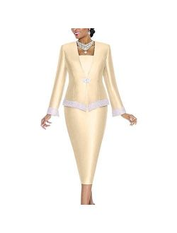 Go Mai Women Church Suits Church Dress Suit for Ladies Mother Gifts Special Occasion Wedding Party Formal Church Clothes