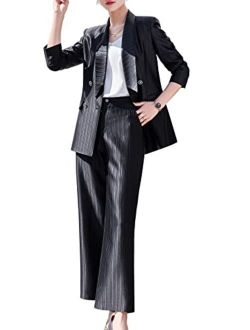 Women's Blazer Suits Two Piece Solid Work Pant Suit For Women Business Office Lady Suits Sets