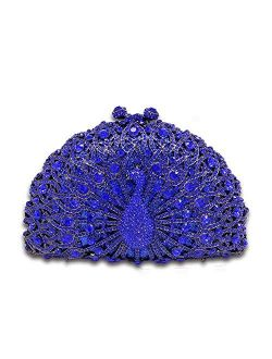 Elegant Crystal Clutches For Women Peacock Clutch Bag Evening Purses and Handbags