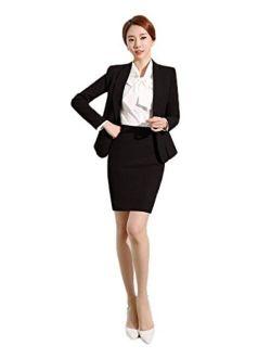 SK Studio Women's Formal Business Suits Office Lady Work Suit Set