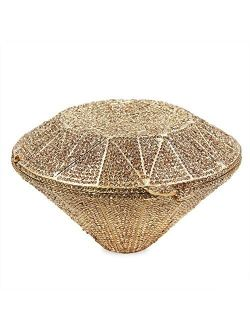 Diamond Clutch Purses for Women,YILONGSHENG Luxurious Designer Bag Rhinestone Evening Purse Clutch for Cocktail Bridal Wedding(Gold)