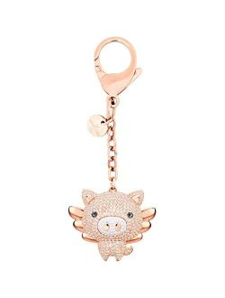 SWAROVSKI Crystal Authentic Little Pig Mixed Plated Bag Charm, Pink - Beautiful Crystal Accessory for Handbags