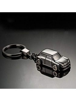 XinQuan Wang Keyfob Car Model Keychain Led Light Auto Accessories Keyring Key Pendant Lightweight Zinc Alloy Key Holder Keychains (Color : Gold Without Box, Size : Free)
