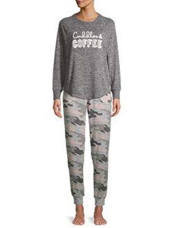 Cuddles & Coffee Charcoal Grey Heather Hacci Sleep Top