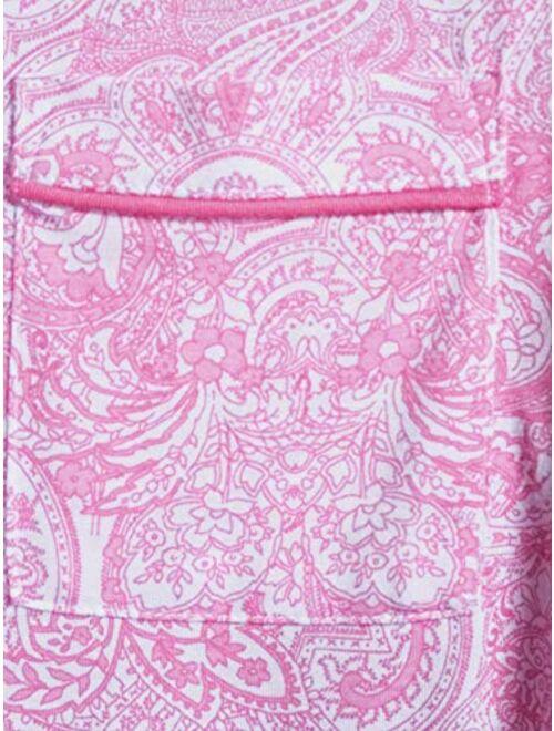 Secret Treasures Paisley Completely Pink Notch Collar Top & Capri Pajama Sleep Set