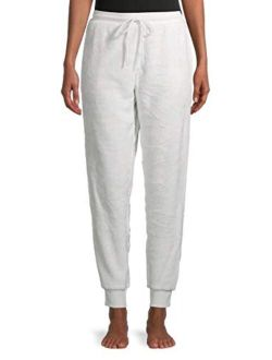Winter White Deluxe Touch Plush Jogger Sleep Pants