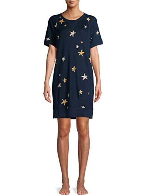 Secret Treasures Stars Blue Cove Pajama Lounger w/Pockets
