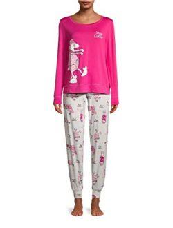 Sheep Walker Magenta Quartz Pajama Sleep Set