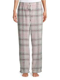 Light Pink Plaid Superminky Fleece Sleep Pajama Pants