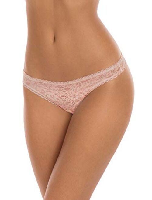 Secret Treasures Black Combo 3 Pack All Over Lace Thong Panties