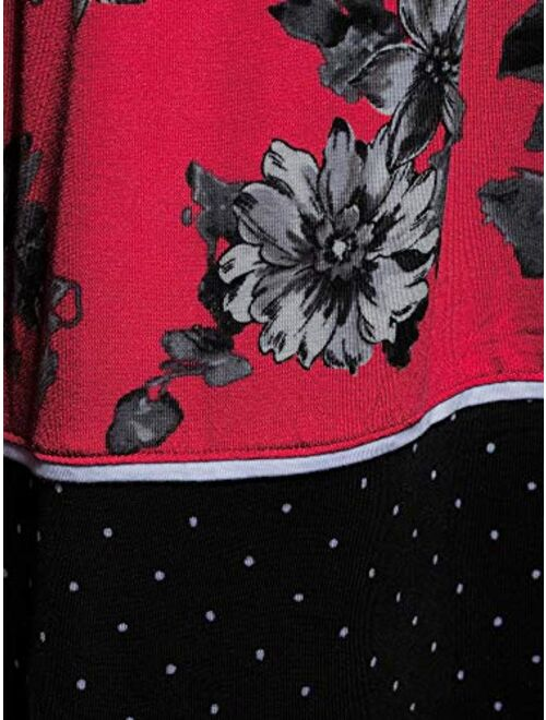 Secret Treasures Women's and Women's Plus Modern Midi Chemise - Red Fever Floral