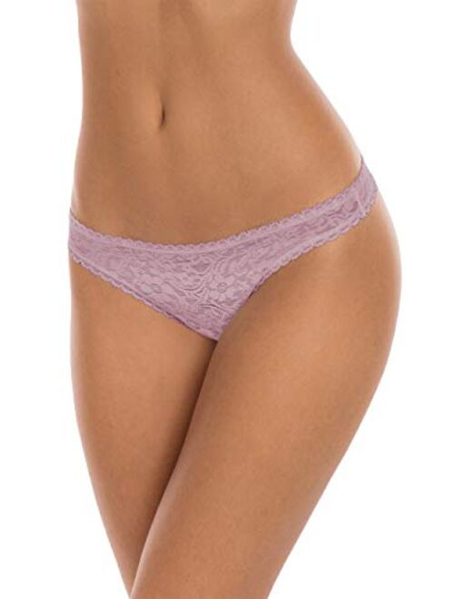 Secret Treasures Lavender Combo 3 Pack All Over Lace Thong Panties