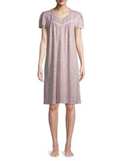 Animal Dreamy Pink Flutter Sleeve Gown Nightgown