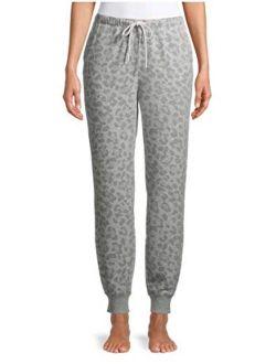 Animal Print Light Heather Grey Jogger Lounge Sleep Pants