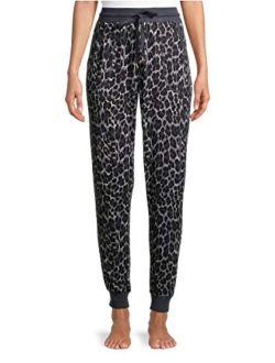 Animal Print Grey Hacci Sleep Jogger Pants