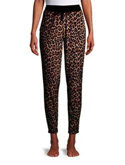 Animal Print Velour Jogger Sleep Pants