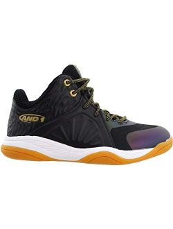 Kids Boys Attack Mid Boys - Basketball Sneakers Shoes Casual - Black