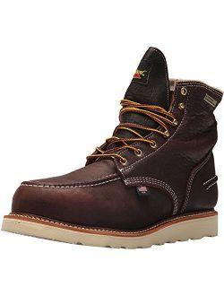 "Thorogood 1957 Series Men's 6"" Moc Toe, MAXwear Wedge Waterproof Safety Toe Boot"