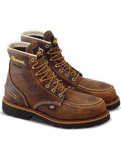 "Thorogood Men's 1957 Series - 6"" Moc Toe, MAXWear90 Waterproof Safety Toe Boot"