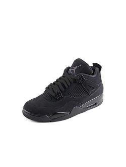 "Mens Air Jordan Retro 4""black Cat Black/black-lt Graphite Synthetic Size"