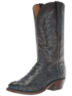 Lucchese Men's Elgin Full Quill Ostrich Snip Toe Cowboy Boots Western