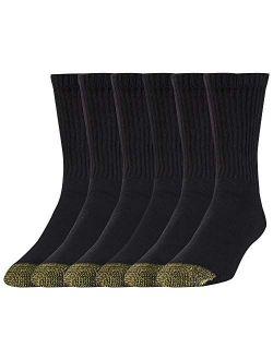 Mens Cotton Short Crew Athletic Socks, 6 Pairs