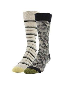 Mens Fall Novelty Dress Crew Socks, 2 Pairs