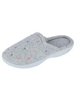 Women's Terryslip On Clog Slipper With Memory Foam For Indoor/outdoor Comfort