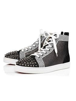 Mens Fashion Christian L Sneakers Lou Spikes Orlato Flat Shoes Rubber Sole