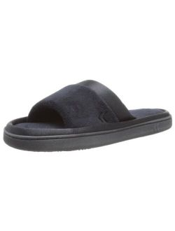 Women's Microterry Slide Slipper With Satin Trim