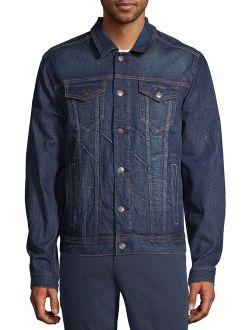 Men's And Big Men's Denim Jacket, Up To Size 5xl